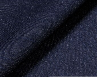 Fabric cotton twill of jeans blue 14.5 oz denim heavy