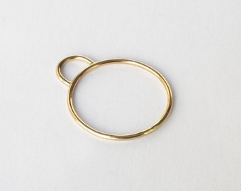 WIRE hill Gold Edition - delicate Ring made of 8 karat gold