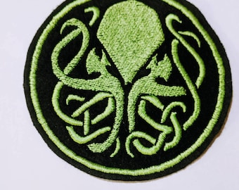 Cthulu embroidered patch