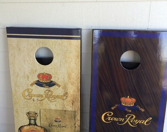 Crown royal corn hole game, been bag toss game