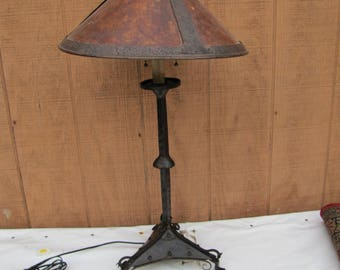 Antique Arts & Crafts Table Lamp Samuel Yellin Style  w4246 (Stickley Era)