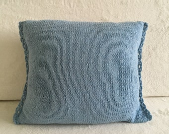 Pillowcase - Knit - 100% Cotton - Baby Blue