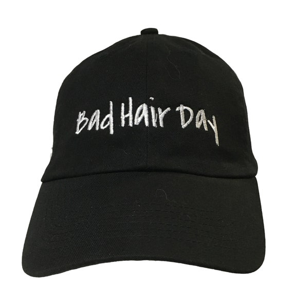 Bad Hair Day (Polo Style Ball Black with White Stitching)