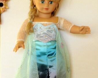 """Frozen Elsa 18"""" Doll Outfit"""