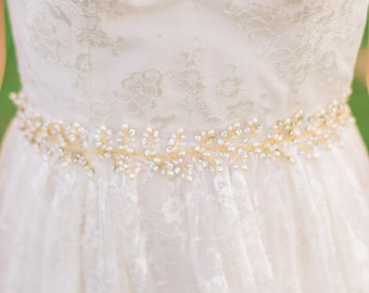 Bridal Belt Bridal Sash Pearl Bridal Belt Beaded Belt Beaded Bridal Belt Crystal Belt Crystal Bridal Belt Pearl Belt #104