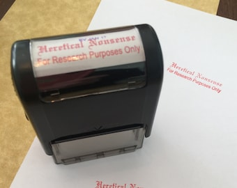Heretical Nonsense Stamp - Heretical Garbage - Catholic gag gift - Christian gag gift - theology teacher