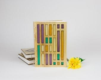 Handmade Resin + Wood Sketchbook / Art Journal - Rectangles
