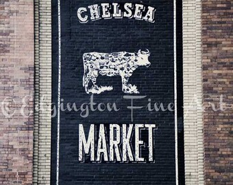 Chelsea Market Sign NYC Kitchen Decor New York City Photo Chelsea Market Print Kitchen Photography NYC Art New York Decor Kitchen Wall Art