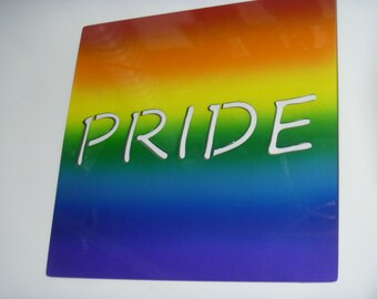 PRIDE Rainbow Gay Pride Sign, Pride wall decor, Pride wall art, LGBTQ wall art, Rainbow Sign, Rainbow wall art, gift for her, gift for him