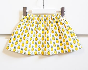 Pineapple baby skirt, baby girl skirt,  girls  skirt, summer skirt, pineapple clothes, pineapple skirt, baby girl clothes, size 12-24 months