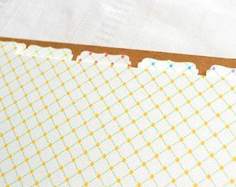 Recipe Binder Tabs - Additional Tabs Sets for your Recipe Binder in Trellis Design