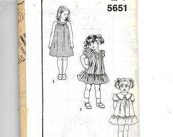 Childs' Dress Pattern 5651