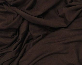 Modal Spandex Jersey Knit Fabric Eco-Friendly natural fiber BITTER CHOCOLATE 9oz