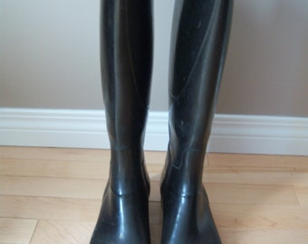 Romika Turf Rubber Riding Boots. Handmade in W. Germany.