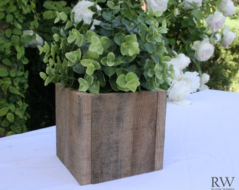 Rustic Wedding Centerpiece Decoration for Ball Jar, Flowers, Succulents - Reclaimed Wood
