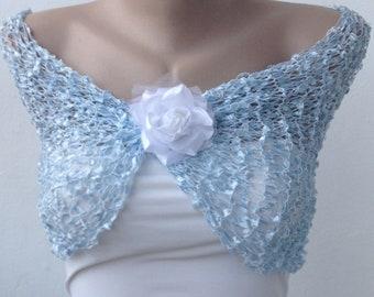 Blue Wedding Cape, Blue Wedding Wrap, Blue Wedding Shawl, Blue Shawl, Bridesmaid Shawl, Blue Wrap, Blue Cape, Bridesmaid Cape, Bridal Shawl