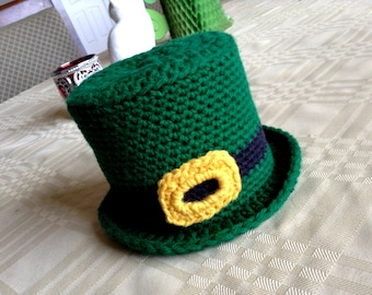 Crocheted Leprachaun Hat Toilet Paper Cover