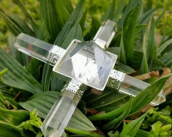Clear Quartz Pyramid Energy Generator