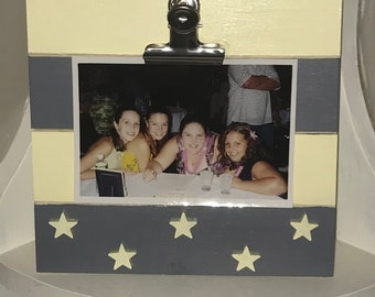 Yellow and Grey Clipboard Frame
