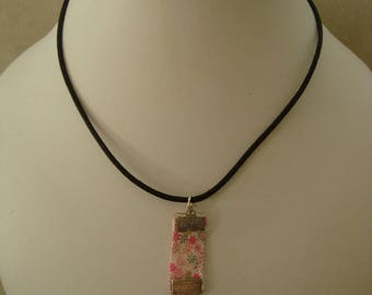 Pink liberty pendant necklace with Dolphin