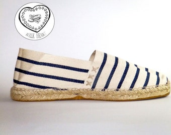 Espadrilles sailor stripes   Organic cotton  Alpargatas made in Spain