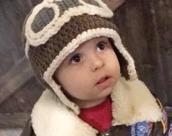 Aviator Crochet Hat