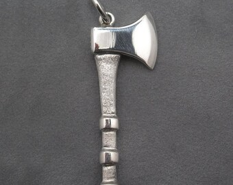 Sterling silver axe pendant
