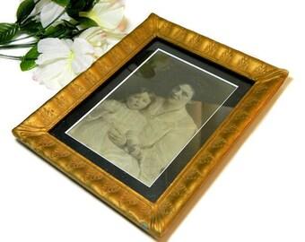 Antique Gold Leaf Pattern Picture Frame