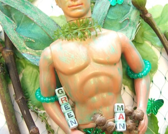 Green Man Greetings Card