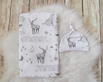 Woodland Swaddle/ Moose Swaddle/Bear Swaddle Blanket/woodland/Infant swaddle blanket/ Baby/ Swaddle Blanket/Moose/Bear/Infant/Newborn