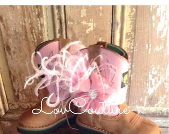 Baby Cowgirl. little Girl Cowgirl. Flower Girl. cowgirl Boot bracelet