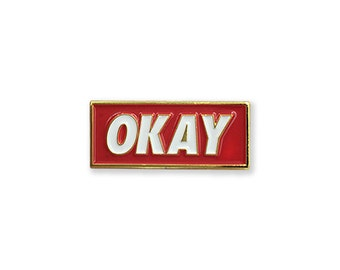 OKAY - RED Enamel Lapel Pin