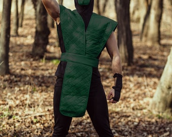 Reptile ninja cosplay costume from Mortal kombat video game, Halloween costume, MK assassin outfit