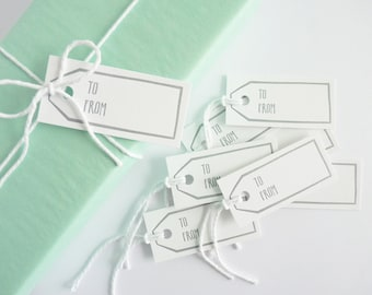To and From – Letterpress Gift Tags