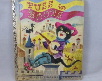 Vintage Little Golden Book Charles Perrault's Puss in Boots
