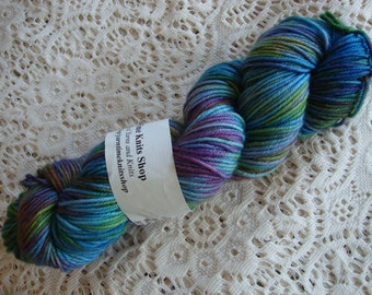 Hand Dyed Yarn Merino Cashmere Nylon DK Rainbow Twist