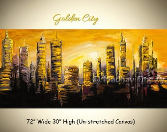 Large Painting, Wall Art, Abstract Painting, Original Art, Painting On Canvas, Large canvas art, Size: 72'' x 30''