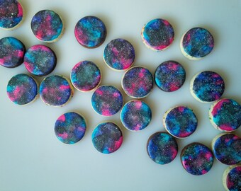 Mini Galaxy Cookies - Two Dozen Decorated Cookies