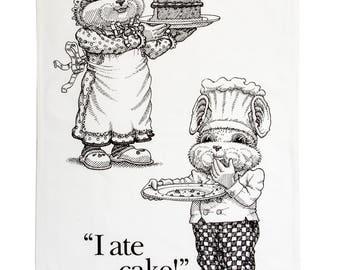 Love Cake, Ate Cake Tea Towel.