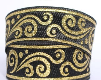 10 m Ribbon embroidered Jacquard * medieval * 35 mm width