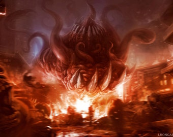 Shub Niggurath Limited Edition Lithograph Art Print Signed and Numbered.