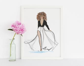 The Catwalk(Fashion Illustration Print) (Fashion Illustration Art - Fashion Sketch prints - Home Decor - Wall Decor )