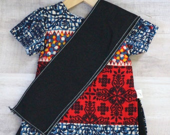 """Multi Block Print Palazzo Suit by Born Global - Indian doll clothes for 18"""" doll"""