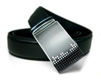 "Automatic Belt Buckle Genuine Leather Belt for Wedding Grooms or Best Man Gift ""Limerence"""