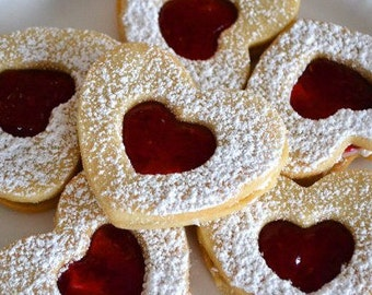 Heart-Shaped Shortbread Cookies (Happy Valentine's Day)
