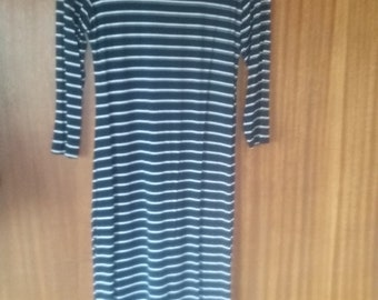 Dress, navy and white. Size 12