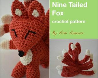 9 Tailed Fox crochet PDF pattern Kitsune Gumiho