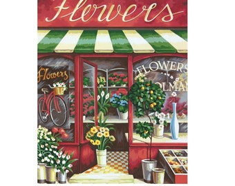 PAINTWORKS Dimensions Paint by Number Kit FLOWER SHOP  11 x 14 inches