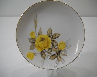 Cotillion by Japan Salad Saucer Plates Yellow Rose Free Shipping
