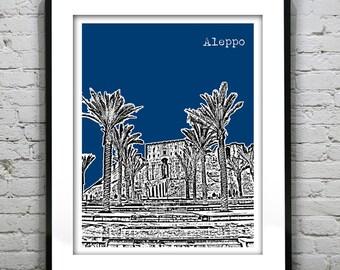 Aleppo Syria Art Print Skyline  Middle East Citadel